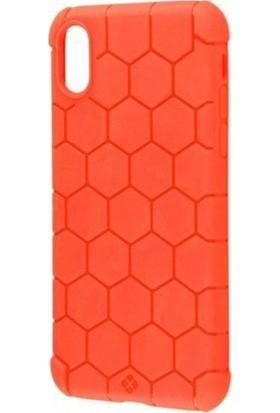 Vendas Apple iPhone XS Tatu Basketto Serisi Desenli Silikon Kılıf + Ekran Koruyucu - Kırmızı