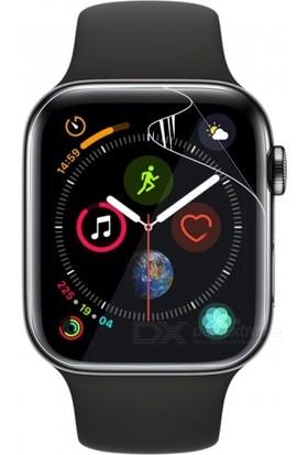 Cayka Apple Watch Series 4 44 mm Tam Kaplayan Full Body Tpu Ekran Koruyucu (2 Adet) - Şeffaf