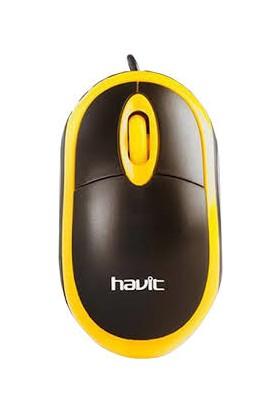 Havit CLS-16 USB Optik Mouse - Turuncu Siyah