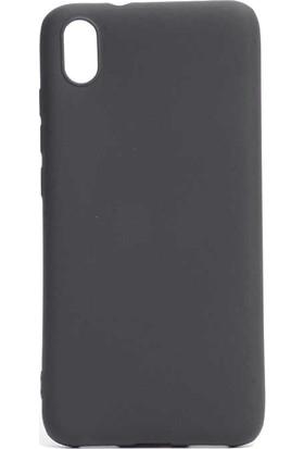 Happyshop Xiaomi Redmi 7A Kılıf Ultra İnce Mat Silikon + Cam Ekran Koruyucu Siyah