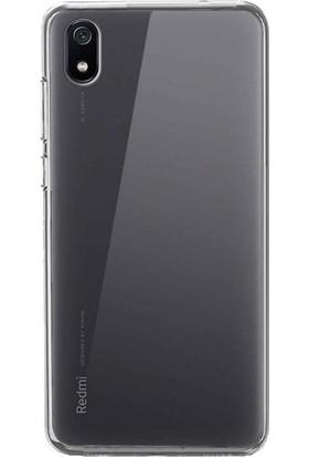 Happyshop Xiaomi Redmi 7A Kılıf Ultra İnce Şeffaf Silikon + Cam Ekran Koruyucu Şeffaf