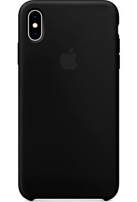 Aktif Aksesuar Apple iPhone XS Max Silikon Kılıf Kauçuk Arka Kapak Siyah