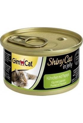 Gimcat Shinycat 24'Lü Tavuklu Papayalı Kedi Konserve 70 Gr