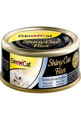 Gimcat Shinycat 24'Lü Kıyılmış Fileto Tuna Ançuez Kedi Konserve 70 Gr