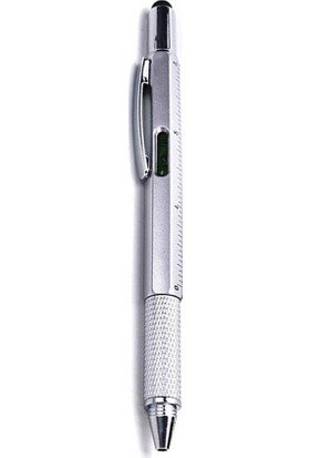 GOB2C GOB2C 6Sı 1 Yerde Çok Araçları Kalemler, Çok İşlevli Tükenmez Kalem Seviyesi Çap Ölçer Tornavida