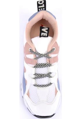 Mille Dara Günlük Giyim Kadın Ayakkabı Beyaz Mavi