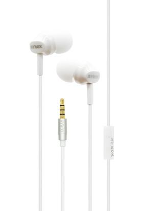 Syrox K8 Mikrofonlu Kulakiçi Kulaklık Beyaz