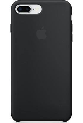 Redclick Apple iPhone 8 Plus Silikon Kılıf Kauçuk Arka Kapak Siyah