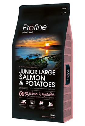 Profine Junior Large Somon ve Patatesli Büyük Irk Yavru Köpek Maması 15 kg + 8 Adet Gimdog Yaş Mama