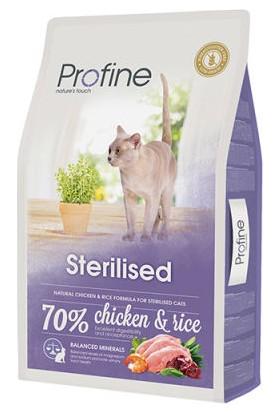 Profine Süper Premium Sterilised Kısırlaştırılmış Kedi Maması 10 kg + 5 Adet Plaisir Pouch 100 g