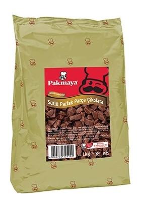 Pakmaya Sütlü Parlak Parça Çikolata 1 kg 1 kg
