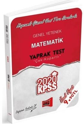 Yargı Yayınları 2020 KPSS Genel Yetenek Matematik Çek Kopartlı Yaprak Test