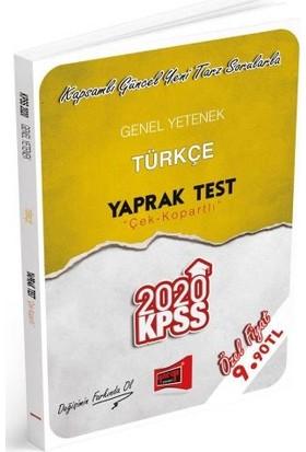 Yargı Yayınları 2020 KPSS Genel Yetenek Türkçe Çek Kopartlı Yaprak Test