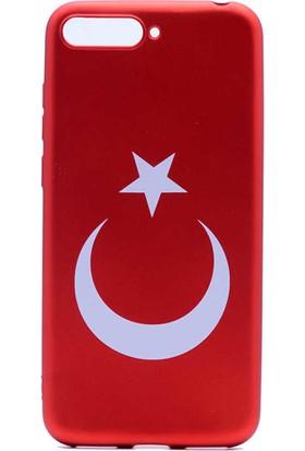 Vendas Huawei Y6 2018 Türk Bayrağı Silikon Kılıf