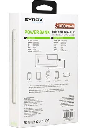 Syrox PB110 10000 mAh LED Ekranlı Taşınabilir Şarj Cihazı - Beyaz