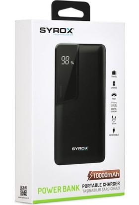 Syrox PB110 10000 mAh LED Ekranlı Taşınabilir Şarj Cihazı - Siyah