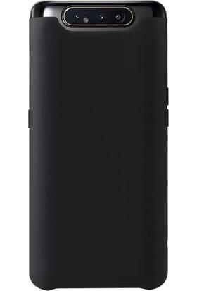 DVR Samsung Galaxy A80 Kılıf Premier + Tam Ekran Cam Koruyucu Siyah