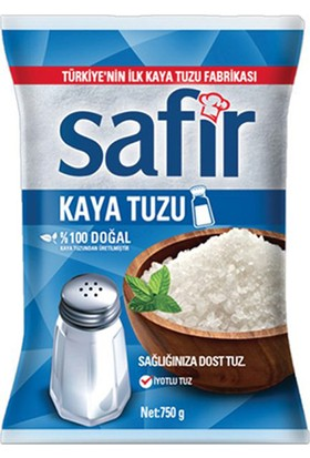 Safir 750 gr İyotlu Poşet Tuz