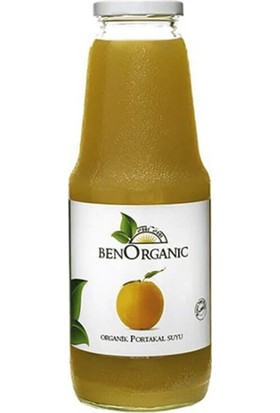BenOrganic Organik Sıkma Portakal Suyu 1 lt