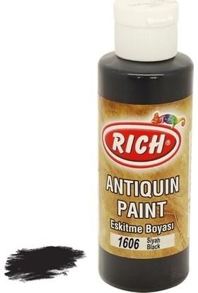 Rich Antiquin Eskitme Ahşap Boyası 130 ml 1606 Siyah