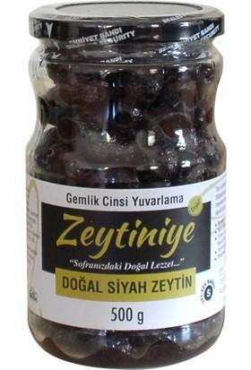 """Doğal Siyah Zeytin Gemlik Cinsi Yuvarlama """"s"""" 500 Gr."""