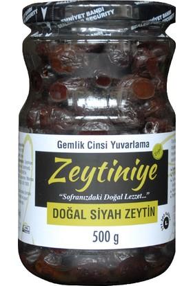 """Doğal Siyah Zeytin Gemlik Cinsi Yuvarlama """"l"""" 500 Gr."""