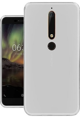 EFSUNKAR.Nokia 6 2018 Ultra İnce Ultra Lüx Soft Şeffaf Silikon Lüx Kılıf
