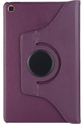 CoverZone Samsung Galaxy Note 10.1 P601/P600 2014 Kılıf 360° Dönerli Standlı Deri Kılıf Mor