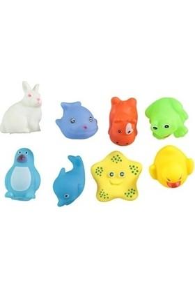 Sozzy Neşeli Banyo Oyuncakları Sevimli Hayvanlar 8'li