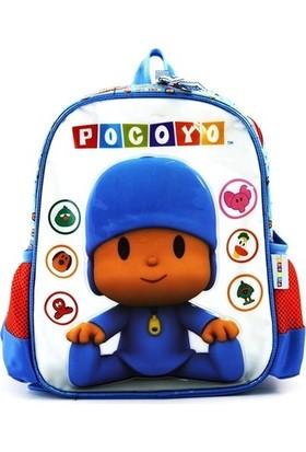 Pocoyo Lisanslı Anaokulu Çantası