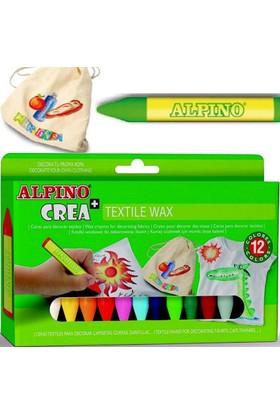 Alpino Crea Textile Wax Kumaş Için Mumlu Boya 12 Renk