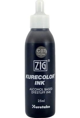 Zig Kurecolor Refill Alcohol Ink Mürekkep 25 Ml. C07 Cool Gray 7