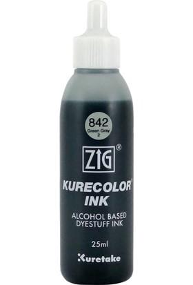 Zig Kurecolor Refill Alcohol Ink Mürekkep 25 Ml. 842 Green Gray 2