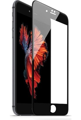 Quse Apple iPhone 6 Tam Kaplayan 5D Ekran Koruyucu Cam Siyah