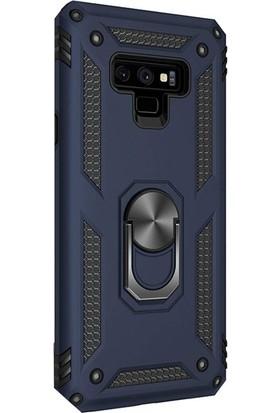 Case Street Samsung Galaxy Note 9 Kılıf Vega Standlı Yüzüklü Mıknatıslı Lacivert