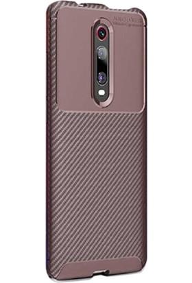 Gpack Xiaomi Redmi K20 Kılıf Negro Karbon Dizayn Silikon Kahverengi