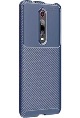 Gpack Xiaomi Redmi K20 Kılıf Negro Karbon Dizayn Silikon Lacivert