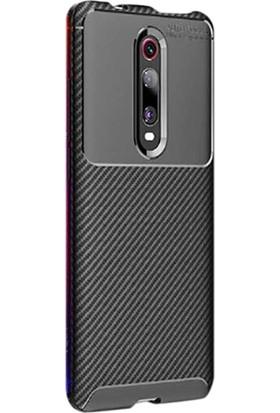 Gpack Xiaomi Redmi K20 Kılıf Negro Karbon Dizayn Silikon Siyah