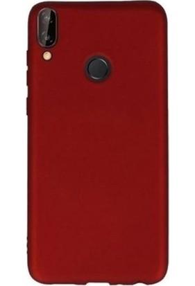 Gpack Samsung Galaxy A20e Kılıf Premier Silikon Esnek Koruma + Nano Glass Kırmızı