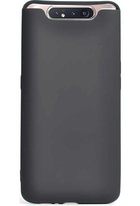 Gpack Samsung Galaxy A80 Kılıf Premier Silikon Esnek Koruma + Nano Glass Siyah