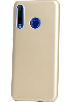 Gpack Motorola One Vision Kılıf Premier Silikon Esnek Koruma + Nano Glass Gold
