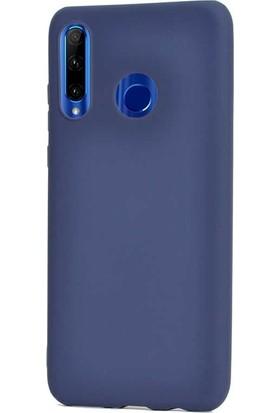 Gpack Motorola One Vision Kılıf Premier Silikon Esnek Koruma + Nano Glass Lacivert