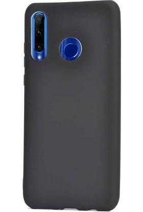 Gpack Motorola One Vision Kılıf Premier Silikon Esnek Koruma + Nano Glass Siyah