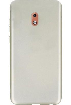 Gpack Nokia 1 Plus Kılıf Premier Silikon Esnek Koruma + Nano Glass Gold
