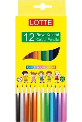 Lotte Kuru Boya Kalemi 12 Renk Tam Boy