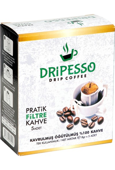 Dripesso Pratik Filtre Kahve 8 GR