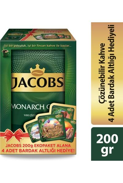 Jacobs Monarch Gold 200 gr + 4 Adet Bardak Altlığı