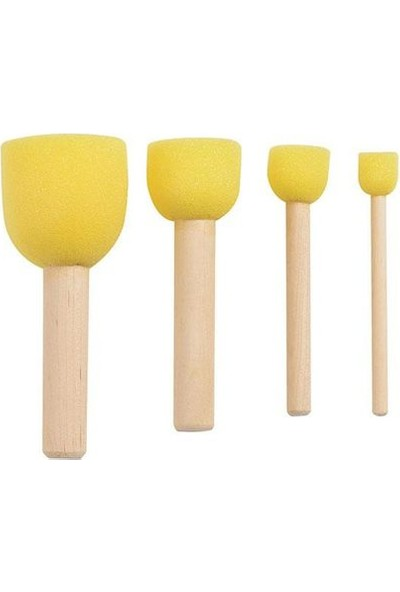 Rich 4lü Ponpon Fırça Takım