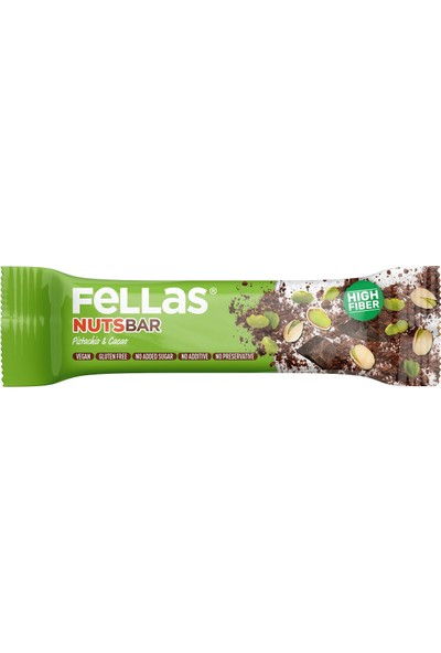 Fellas Nuts Bar Antep Fıstığı ve Kakao 40 gr