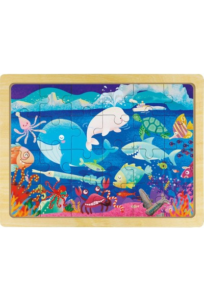 Forus Neşeli Balıklar / 24 Parça Ahşap Puzzle